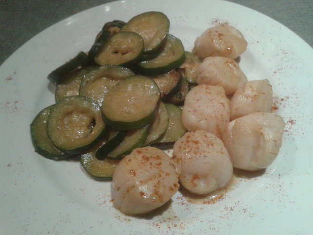 Curry courgettes St jacques
